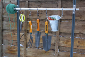 Elite Greenhouses' handy tool rack